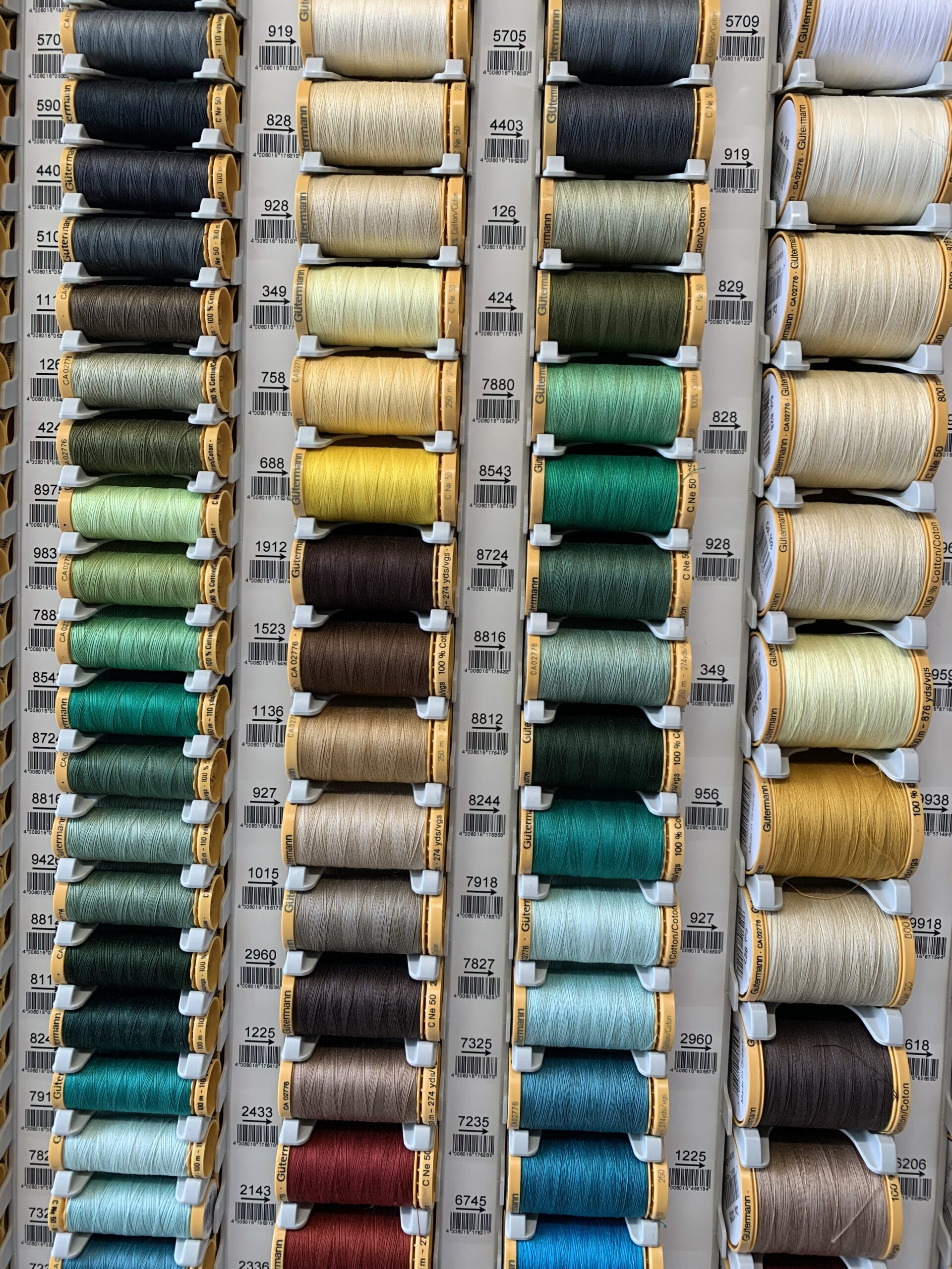 Gutermann Thread Club For twelve months have cotton thread sent to your door. This is a fabulous way to build up your thread collection.