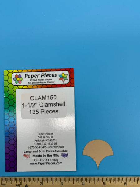 One and a Half Inch Clamshell Precut Paper Shapes for English Paper Piecing