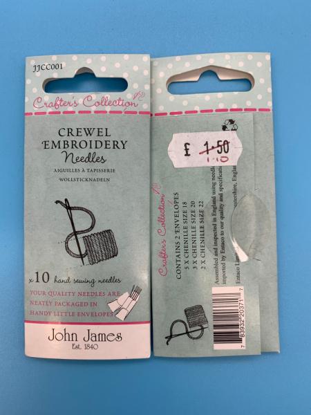 JJCC001 Crewl Embroidery Needles