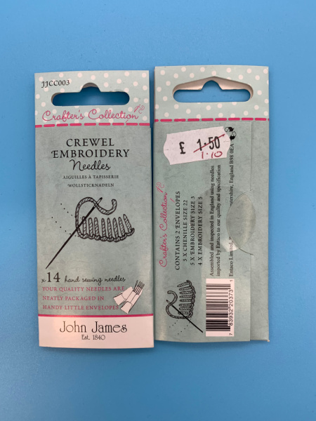 JJCC003 Crewl Embroidery Needles