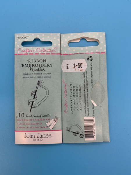 JJCC007 Ribbon Embroidery Needles By John James