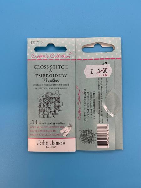 JJCC013 Cross Stitch and Embroidery Needles