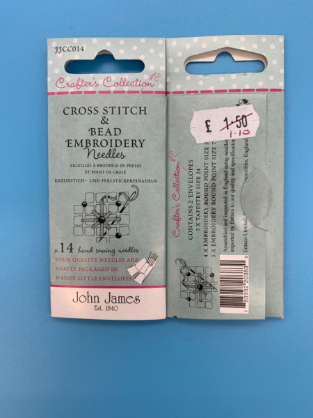 JJCC014 Cross Stitch and Embroidery Needles from John James