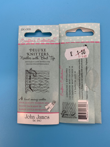 JJCC020 Delux Knitters Needles With Bent Tips