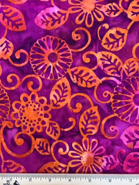 Jewel Batik in Pink and Orange Quilting Fabric by Michael Miller