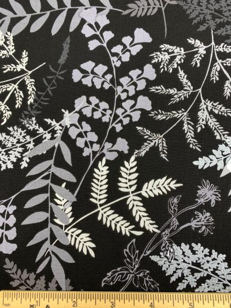 Midnight fern black from Midnight Pearl by Greta Lynn for Kanvas Studio Benartex
