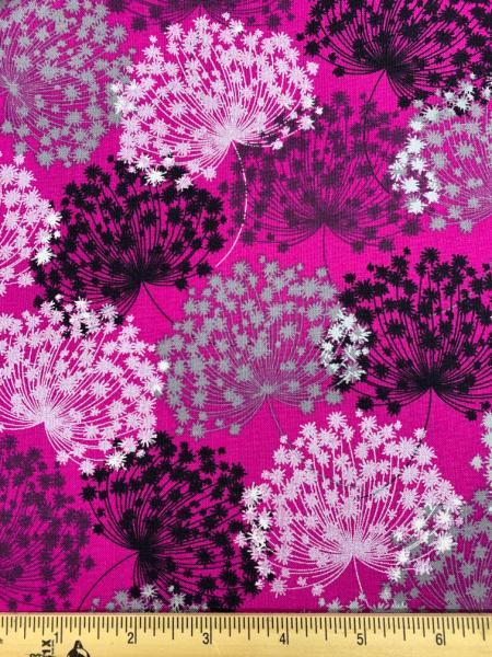 Midnight Pearl Wild Flower Fuchsia from Kanvas Studio