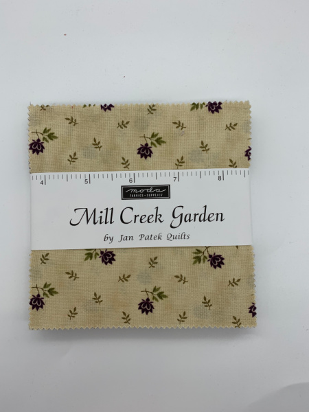 Mill Creek Garden Charm Pack Quilting Fabric 42 five inch squares from Moda