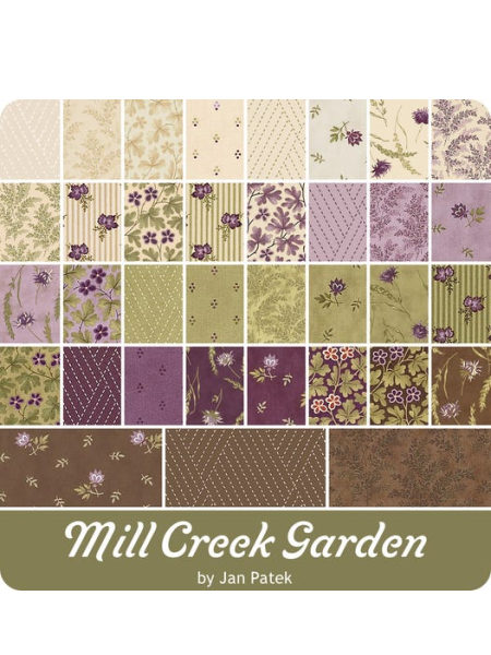 All the fabrics in the Mill Creek Garden collection quilting fabric