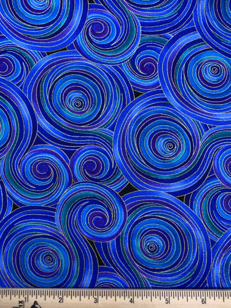 Night in Blues and Purples Quilting Fabric by Chong-A Hwang for Timeless Treasures
