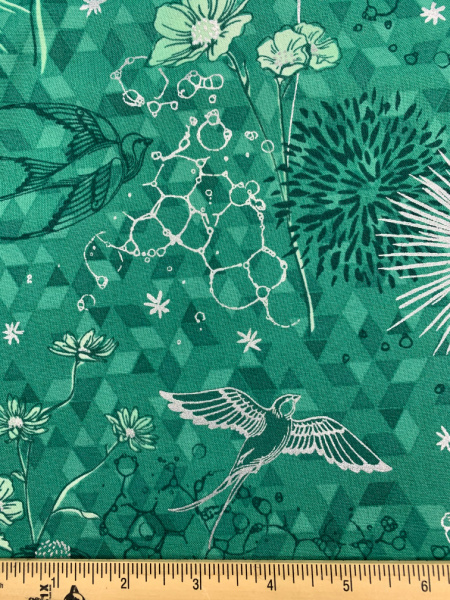 Only In Dreams in Leaf from Shiny Objects Sweet Somethings by Florie and Finch for RJR Fabrics