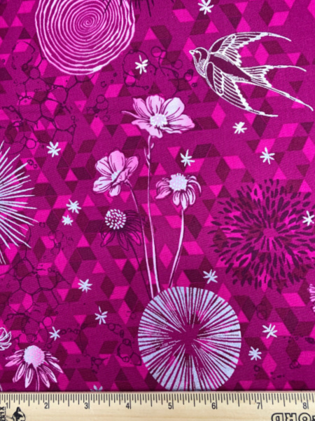 Only In Dreams in Raspberry from Shiny Objects Sweet Somethings by Florie and Finch for RJR Fabrics