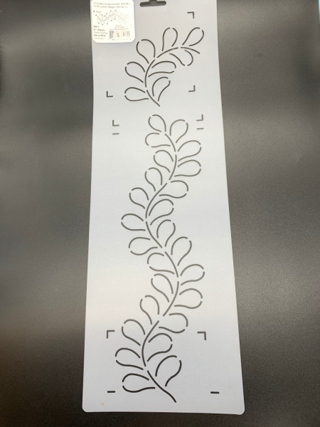 Open Feather Border SN11 10cms (4inches) Quilting Stencil