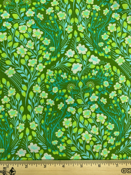 Parrot Prattle Guava quilting fabric from Tula Pink