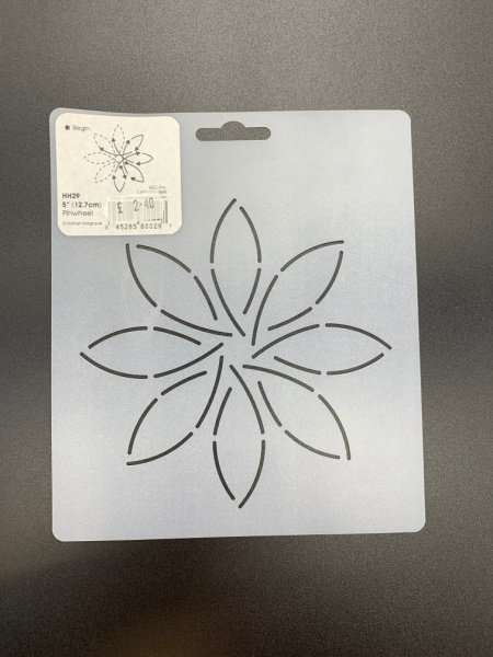 Pinwheel HH29 12.7cms (5inches) Square Quilting Stencil
