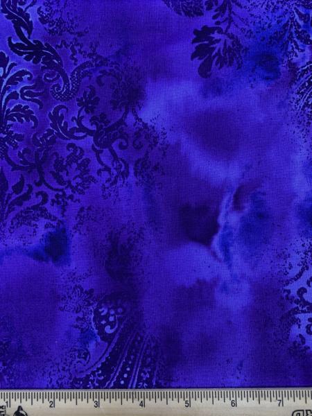 Purple Dreamscape by J Z W for Benartex