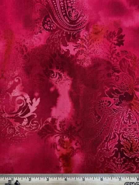 Red Dreamscape by J Z W for Benartex