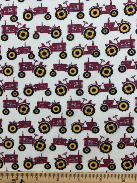 Red Tractor Quilting fabric from Quilter Barn Prints for Benartex