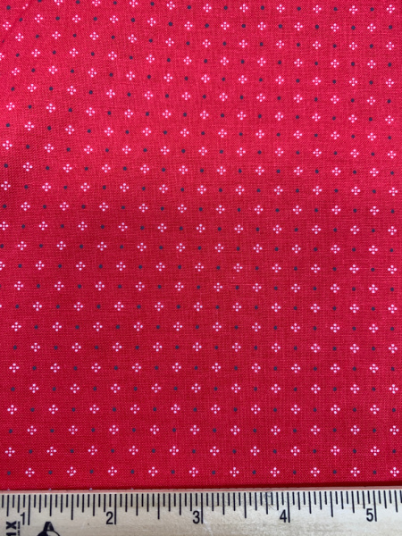 Red Calico Quilting Fabric By Lori Holt Of Bee In My Bonnet For Riley Blake