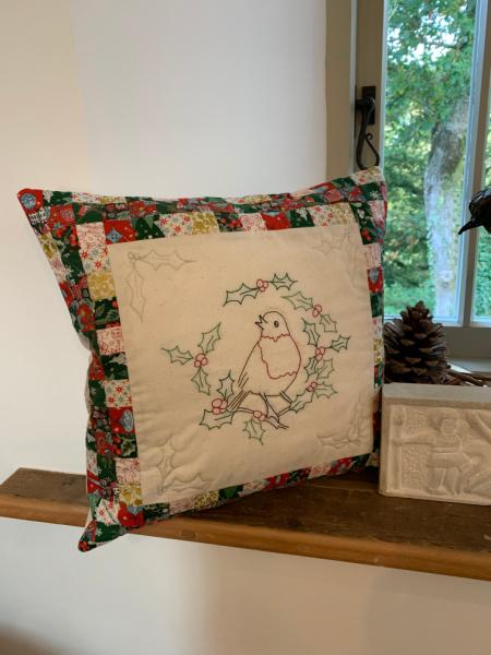 Christmas Robin Cushion Class