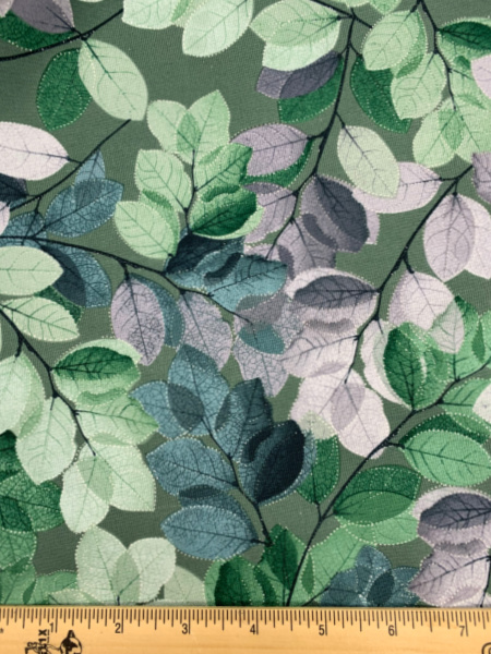 Sheer Leaves Green from Essence of Pearl from Benartex