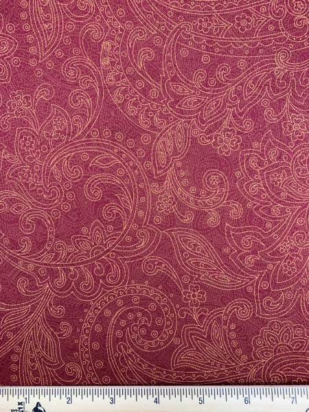 Spice Bazaar Red Quilting Fabric by Laura Berringer for Marcus Fabrics