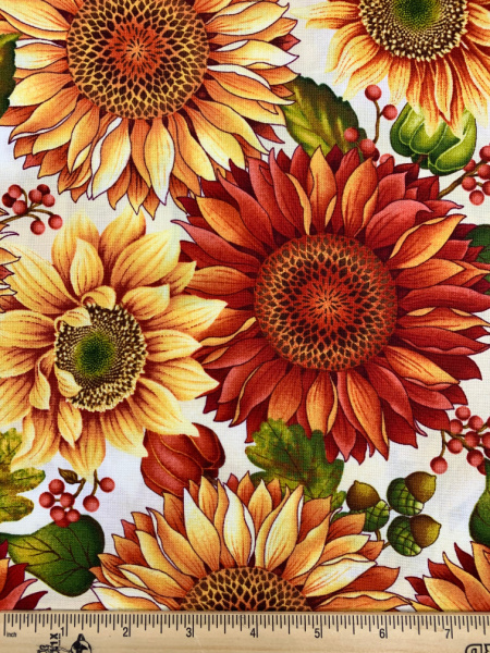 Sunflowers from Autumn Album by Colour Principle for Henry Glass and Co.