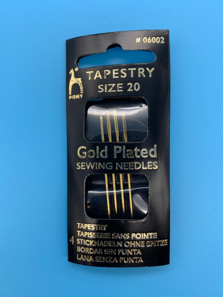 Tapestry Gold Plated Needles size 20 from Pony