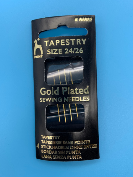 Tapestry Gold Plated Needles size 24/26