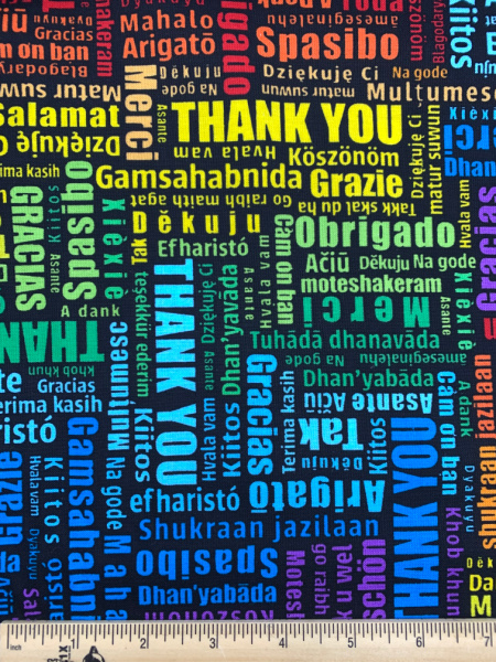 Thank you in many languages by Timeless Treasures