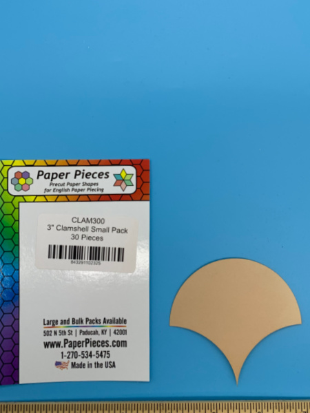 Three Inch Clamshell Precut Paper Shapes for English Paper Piecing