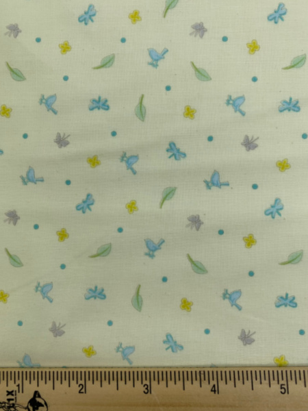 Ditsy Print Yellow Cotton Quilting Fabric By Sam McBratney From Guess How Much I Love You For Clothworks