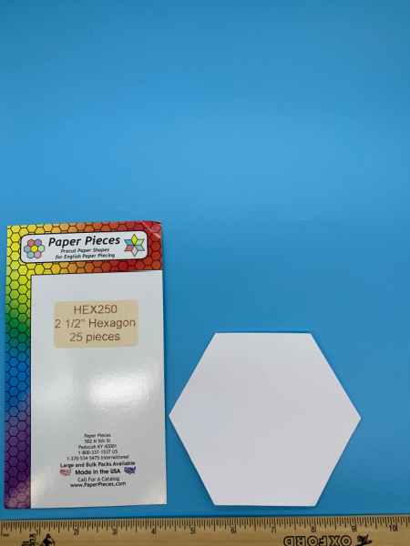 Two and a Half Inch Hexagon Precut Paper Shapes for English Paper Piecing