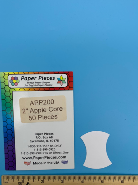Two Inch Apple Core Precut Paper Shapes for English Paper Piecing