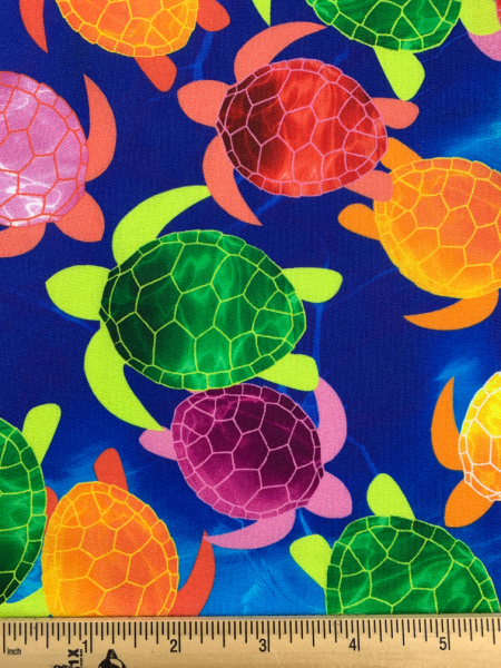 Watercolour Turtles Blue from Tropical Breeze