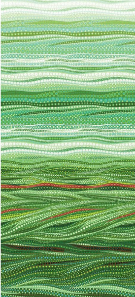 Dreamscapes Dots Green Quilting Fabric by Ira Kennedy for Moda