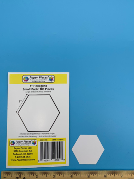 One Inch Hexagon Precut Paper Shapes for English Paper Piecing