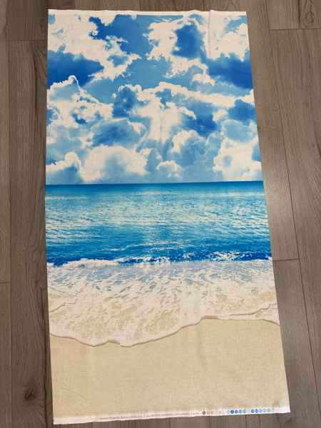 Beach and Sea Panel Quilting Fabric From Timeless Treasures