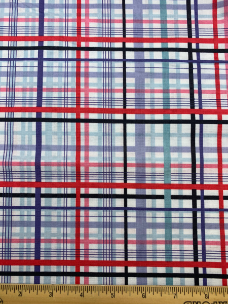 Red and Black Check Quilting Fabric from Planet Buzz for Blend