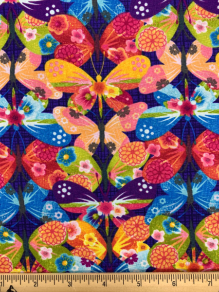 Dancing Wings Butterfly Purple quilting fabric from Studio E Fabrics