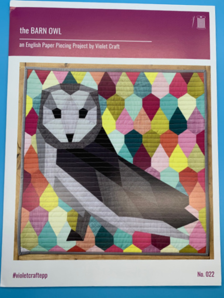 The Barn Owl an English Paper Piecing Project by Violet Craft