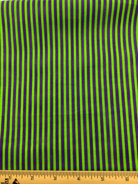 Green and Purple Stripe Quilting Fabric Clearance