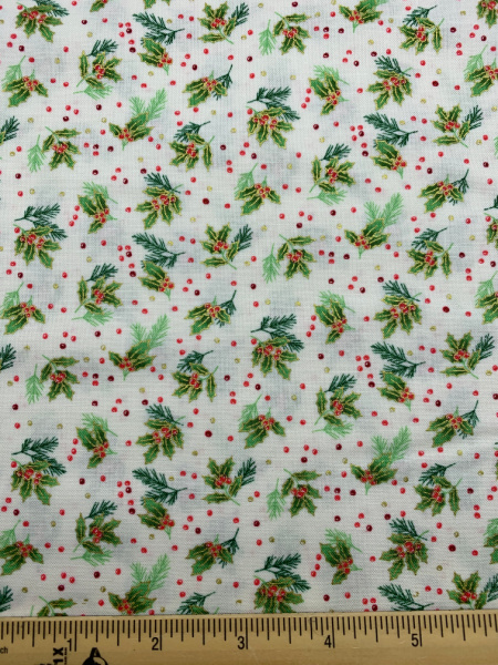 Scatter in Cream quiting fabric from Classic Foliage for Makower