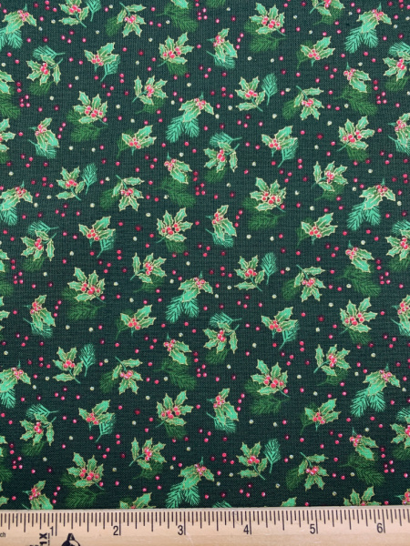 Holly Spray In Green From Classic Foliage For Makower