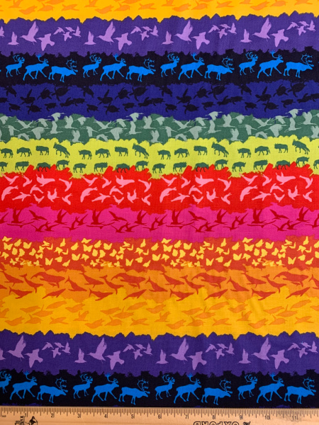 On the Move quilting fabric From Migration By Lorraine Turner for Free Spirit