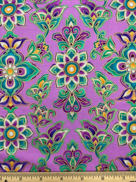 Paisley Moon Pink Quilting Fabric By Michael Miller
