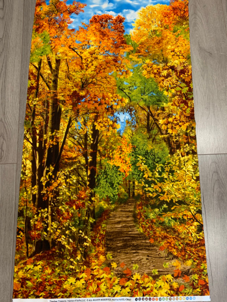 Autumn Trees Panel Quilting Fabric from Timeless Treasures