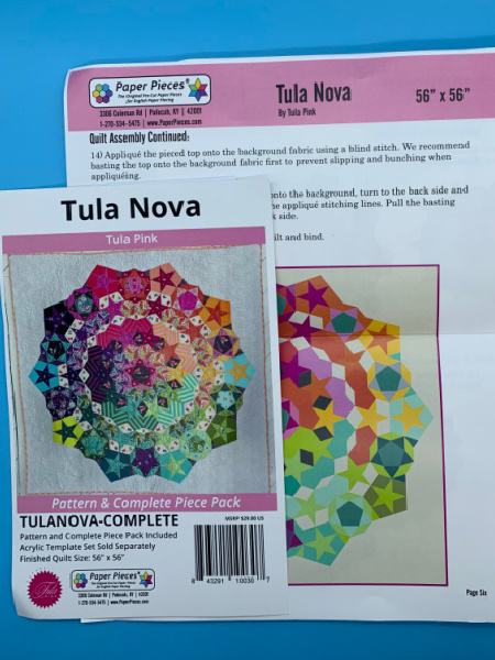 Tula Nova Pattern and Complete Paper Piece Pack by Tula Pink