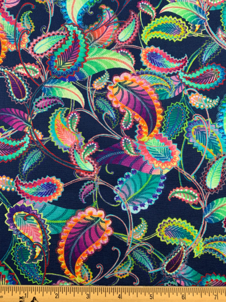 Blooming Paisley quilting fabric from Studio e fabrics
