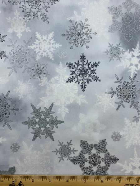 Winter wonderland white quilting fabric